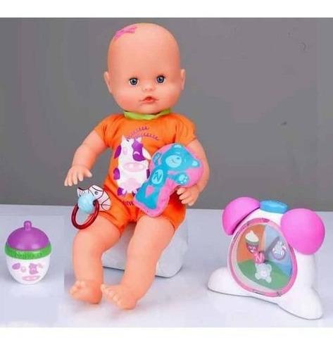 muñeca ¿qué hora es? juego de roles de aprendizaje