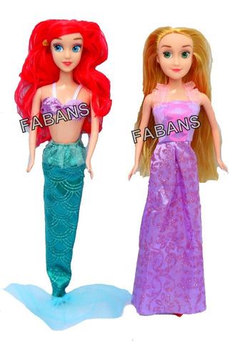 muñeca rapunzel ariel sirenita de 29cm  juguetes niña barbie