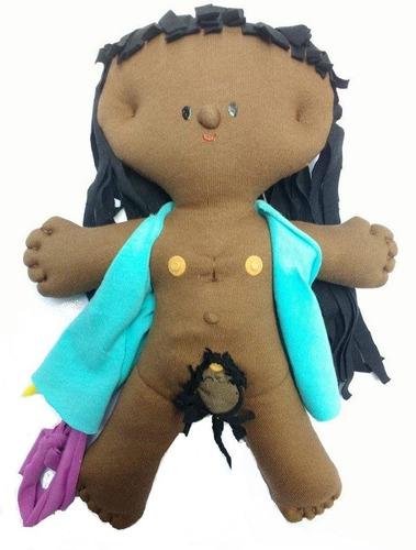 muñeca sexuada embarazada de tela
