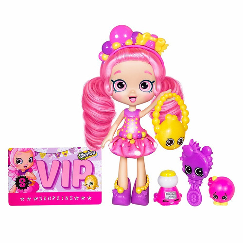 muñeca shoppies shopkins con accesorios original