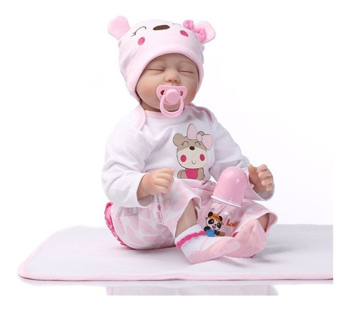 muñeca silicona realista reborn mexico juguetes niña 55cm