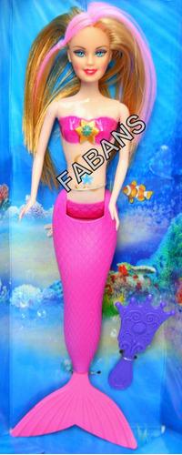 muñeca sirena cambia de color barbie mermaid juguetes niña