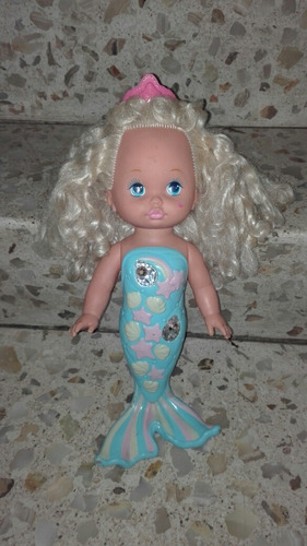 muñeca sirena mattel vintage 1991 little miss mermaid