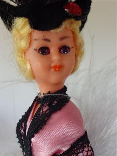 muñeca souvenir vestimenta tipica paris 20 cm belle epoque