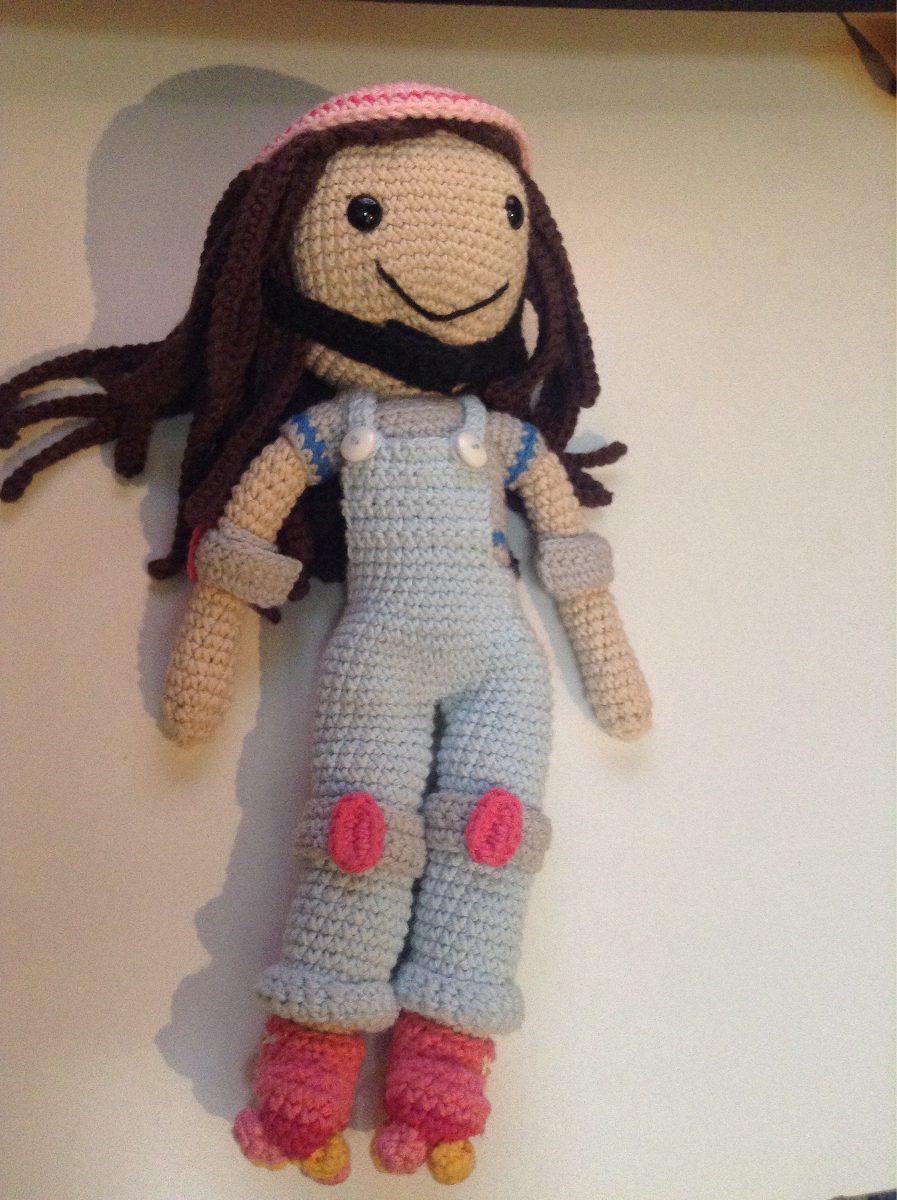 Muñeca Soy Luna Patinadora Amigurumi Tejida A Crochet - $ 350,00 en ...