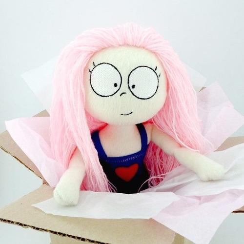 muñeca suave cabello peluche decoración cumpleaños guyuminos