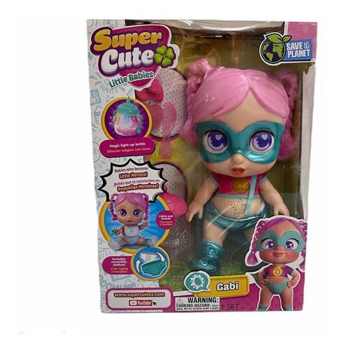 muñeca supercuteez con luz y sonidos original sc001