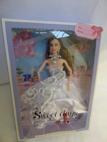 muñeca tipo barbie vestida de novia