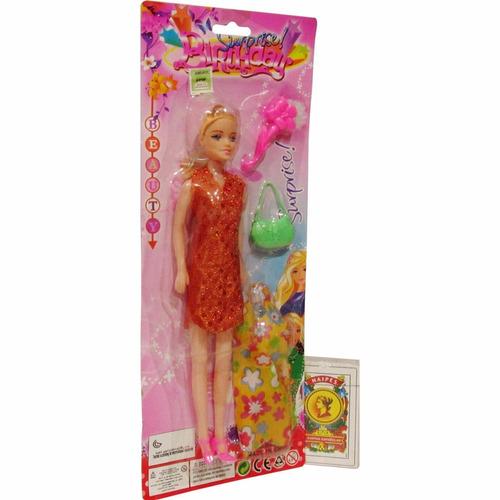 muñeca vestido cartera zapatos juguete niña bebe nena