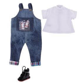 7fb6cb39fc Camiseta Blanca Pantalones Vaqueros + Botas De Cuero Pu Par