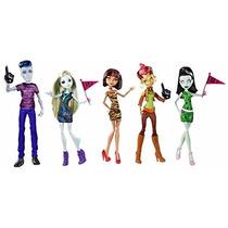 Monster High Set De 5 Muñecas. Originales Mattel