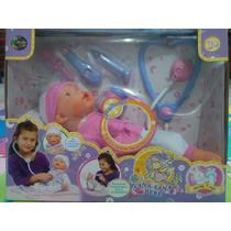Muñeca Sana Sana Bebe Jeidy Toys Con Sonido Y Accesorios