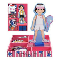 Muñeca Melissa & Doug Con Accesorios Imantados Original