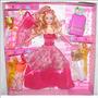 Muñeca Happy Set + 7 Vestidos + Maleta Navidad Niñas Regalo