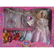 Muñeca Princesa Pretty Girl Con Vestidos Y Accesorios
