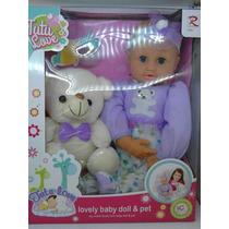 Muñeca Tutu Love Lovely Baby Doll & Pet Con Accesorios Bella