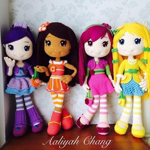 muñecas amigurumi frutilla hechas a mano crochet