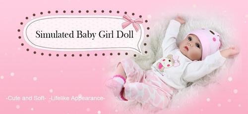 muñecas bebé silicona realista 50cm envio inmediato