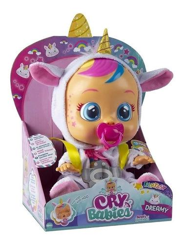 muñecas cry babies modelo unicornio fantasy dreamy