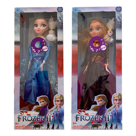 Muñecas Frozen 2 Princesas Anna Y Elsa Articuladas Musicales