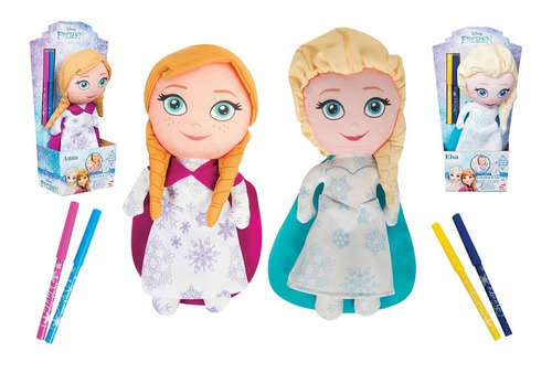 muñecas frozen/princesas para colorear y lavar (1794)