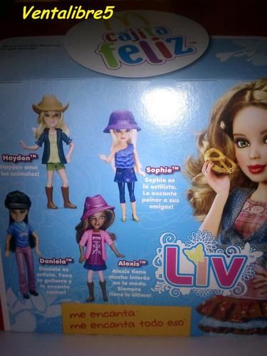 muñecas liv mc donalds 2012 colecciòn completa!! lote