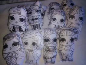 Muñecas Lol Para Pintar Pack Por 10unid Con Marcadores