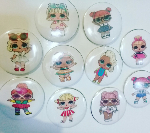 muñecas lol  souvenirs pins imantados