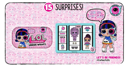 muñecas lol surprise under wraps 15 sorpresas