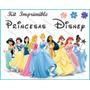 Kit Imprimilble De Princesas Diseña Tarjetas, Invitaciones