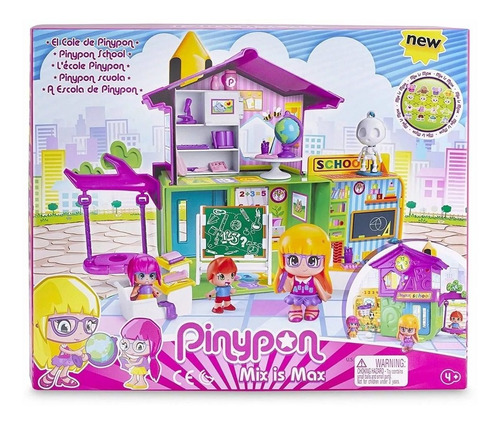 muñecas pinypon escuela+ 3 figuras+ accesorio juguetes nenas
