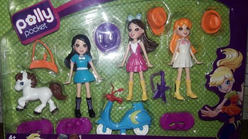 muñecas polly pocket + accesorios