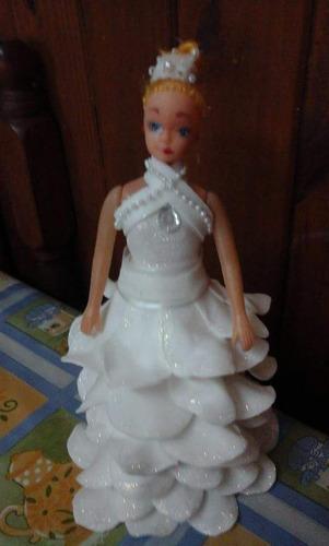 muñecas quinceañeras en goma eva