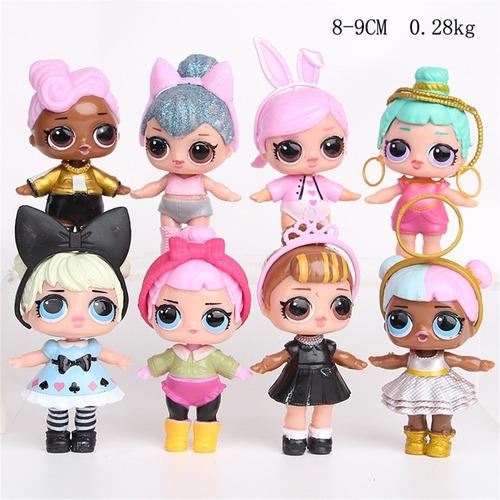 muñecas sorpresa lol multicolores 8 unidades