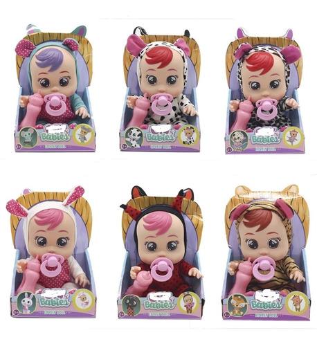muñecas tipo cry babies bebés llorones muñeca llora 23 cm