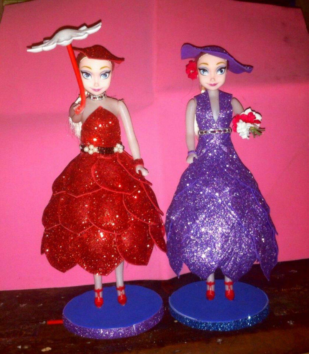 e0692aad362 muñecas vestidas en goma eva ideal para cumpleaños. Cargando zoom.