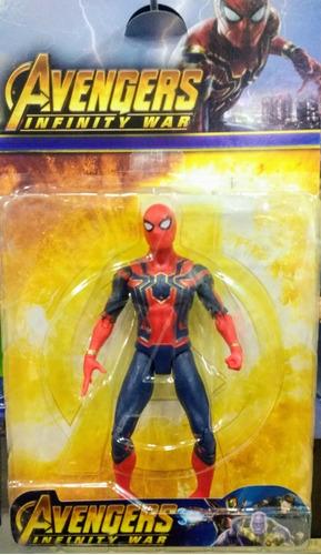 muñeco articulado iron spider infinity war 17cm titi toys