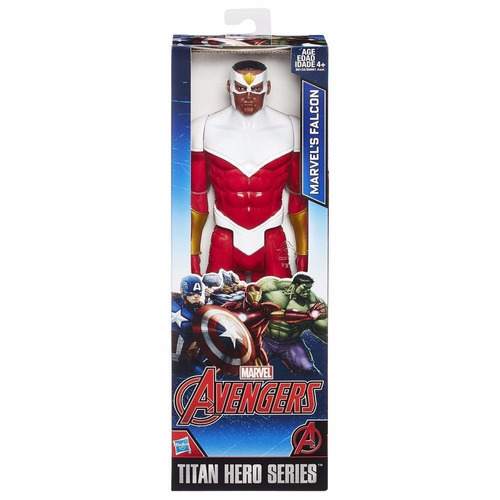 muñeco articulado marvel titan hero serie falcon 30cm hasbro