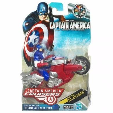 muñeco avengers capitan america cruissers nitro moto