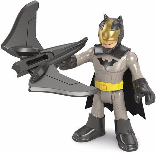muñeco batman, armadura  drone, fisher-price, 3 pulg  7 cm,