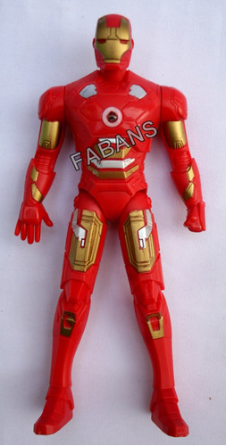 muñeco capitan america iron man luz 18cm juguete vengadores