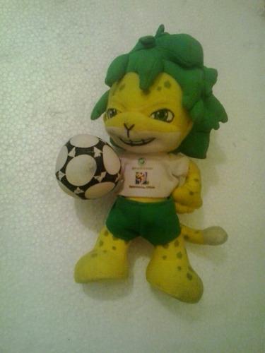 muñeco colección mascota zakumi mundial sudáfrica 2010