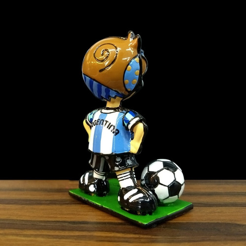 muñeco coleccionable fútbol argentina - britto original