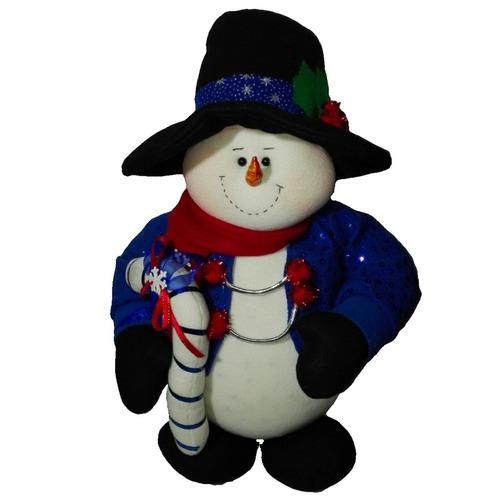 muñeco country nieve con luces 50 cm navidad regalo amor