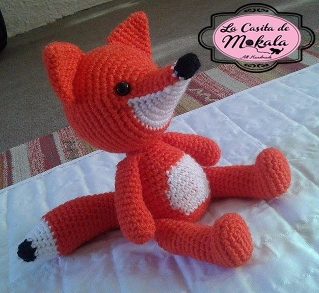 "The finished Fox is about 23"" from nose to tail. My gauge was ... 