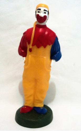 muñeco de goma payaso piñon fijo 19cm de alto con base