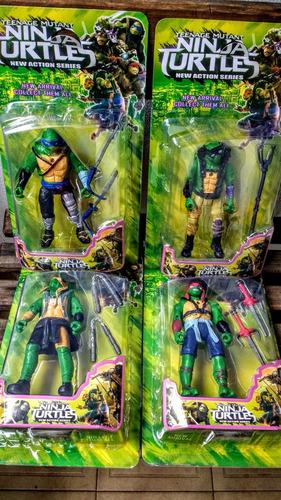 muñeco de las tortugas ninja articulados por unidad 16cm