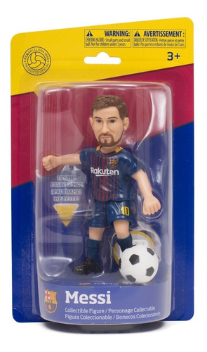 muñeco de messi barcelona futbol con movimiento de pierna fu