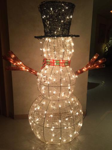 muñeco de nieve luces exterior e interior
