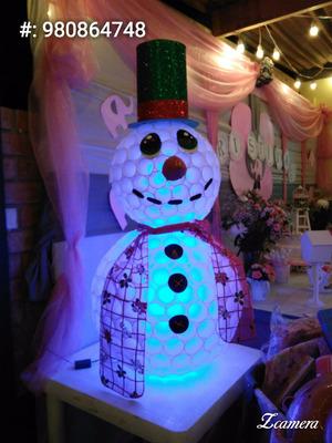 muñeco de nieve navideño
